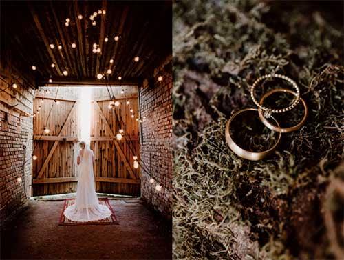 Collage aus Bildern zum Thema Vintage Hochzeit