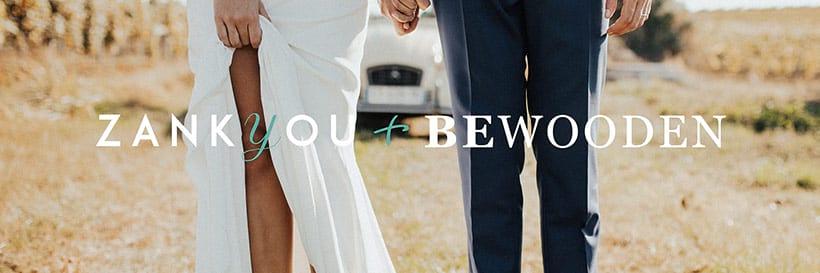 Logo BeWooden und Zankyou, Kooperation Vintage Hochzeit