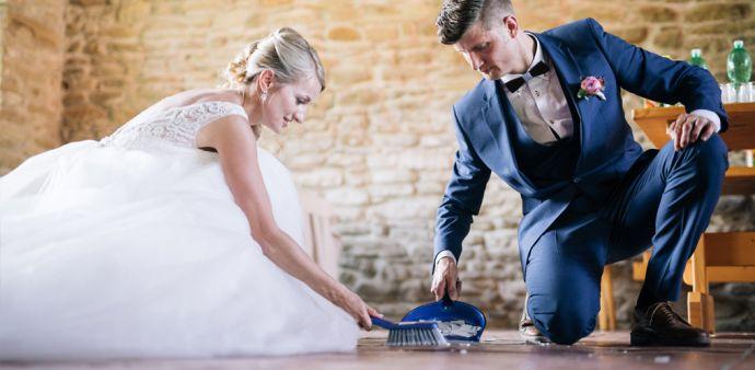 Hochzeit im Mai Holzfliege Manschettenknöfpe