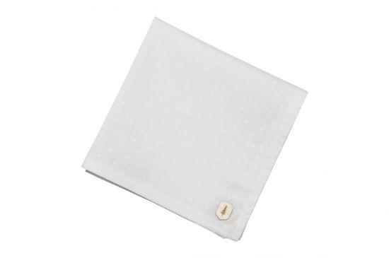 BeWooden - Anzug Einstecktuch einzigartig white dots square