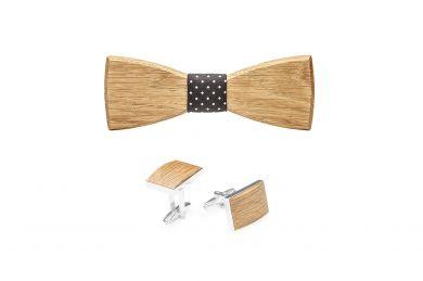 BeWooden - Holzfliege Coloo und Manschettenknöpfe Coloo Cuff