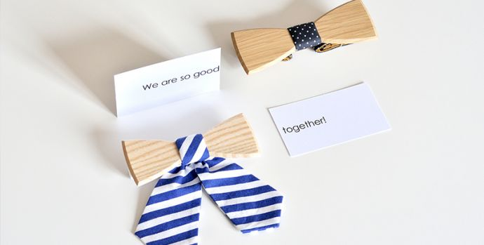 Accessoires für LIebespaare: Holzfliege