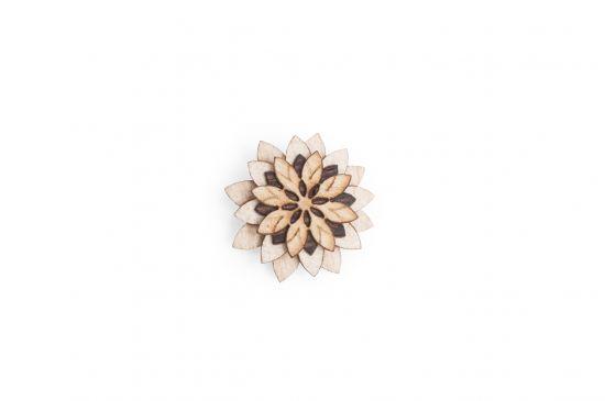 BeWooden - Broschen Bellis Flower für Herren