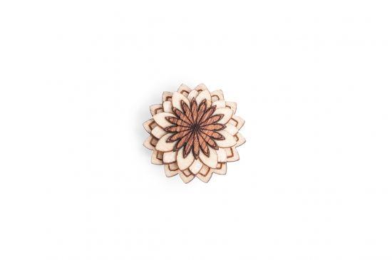 BeWooden - Broschen für Herren Cubo Flower