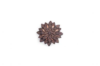 BeWooden - Broschen für Herren Deco Flower