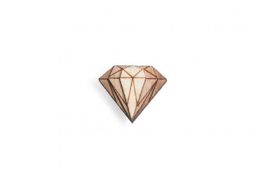 BeWooden - Broschen für Herren Diamond Lapel