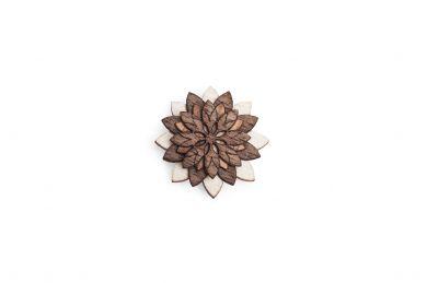 BeWooden - Broschen Illa Flower für Herren