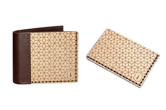 Virie Set I. Portemonnaie und Kartenhalter aus Holz