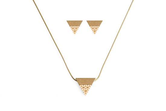 BeWooden - 00 Liti necklace & earrings set