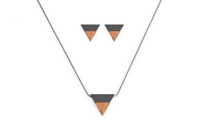 BeWooden - 00 Rubi necklace & earrings set