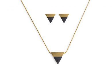 BeWooden - 00 Vespa necklace & earrings set