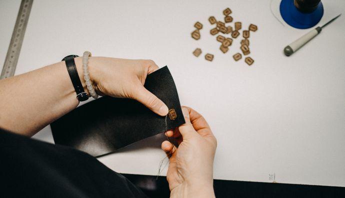 Nähen von der Nox Slim Wallet Leder Geldbörse
