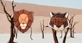 Die neuen Holzbroschen mit Tiermotiven aus allen Ecken der Welt