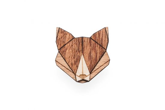Fox brooche