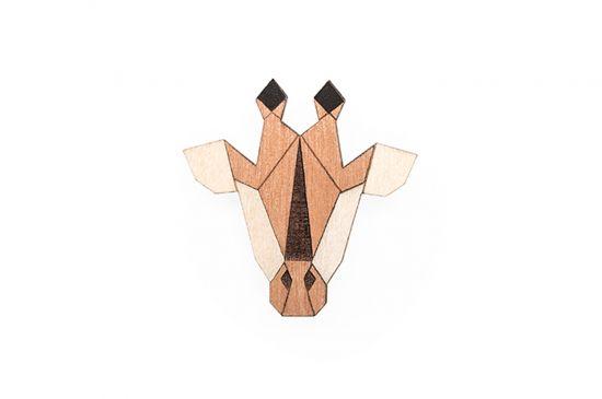 BeWooden - Giraffe Brooch