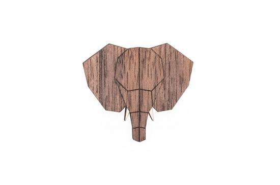 BeWooden - Elephant Brooch