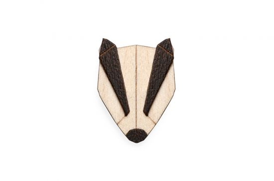 BeWooden - Badger Brooch