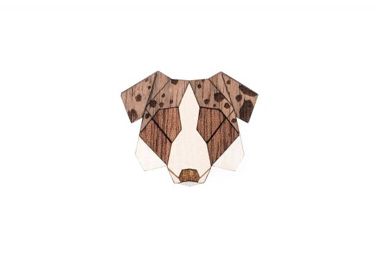 BeWooden - 0 Australian Shepherd brooch