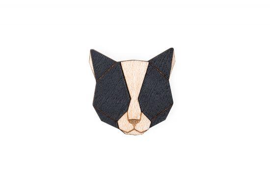 BeWooden - Black Cat Brooch