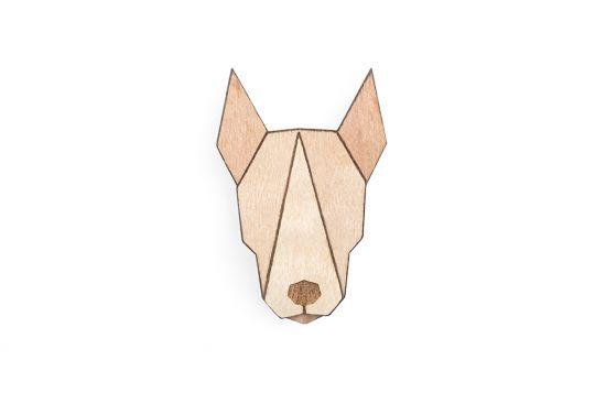 BeWooden - Bull Terrier Brooch