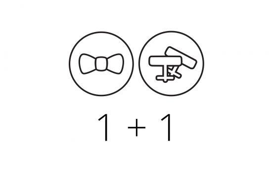1+1 Fliege & Manschette