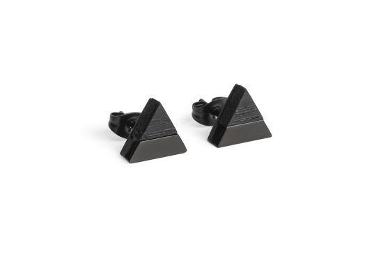 BeWooden - 0 Nox earrings triangle