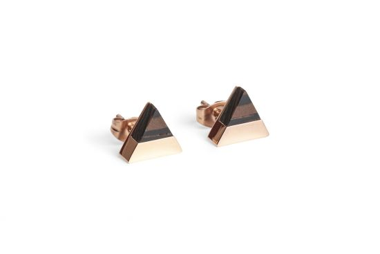 Rose Earrings Triangle
