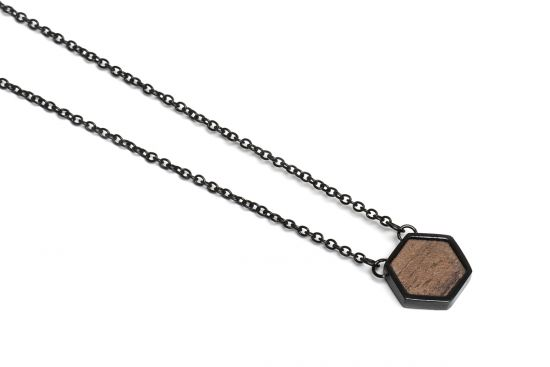 BeWooden - Apis Nox Necklace Hexagon