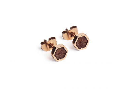 BeWooden - Rea Earrings Hexagon