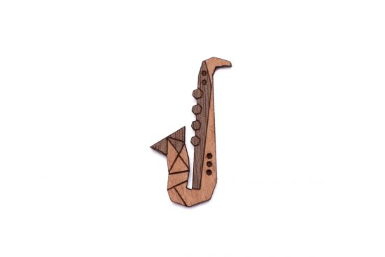 Saxophone Brooch