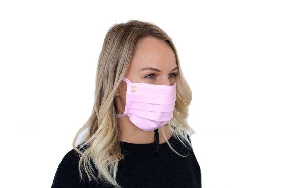 Stilvolle Mund-Nasen-Maske Rea Mask BeWooden aus 100% Baumwolle
