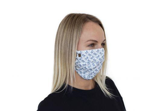 Stilvolle Mund-Nasen-Maske Paisley Mask BeWooden aus 100% Baumwolle