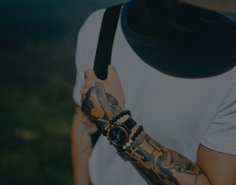 Holz Armbanduhr TAS