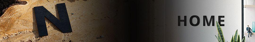 Hölzerne Wandbuchstaben