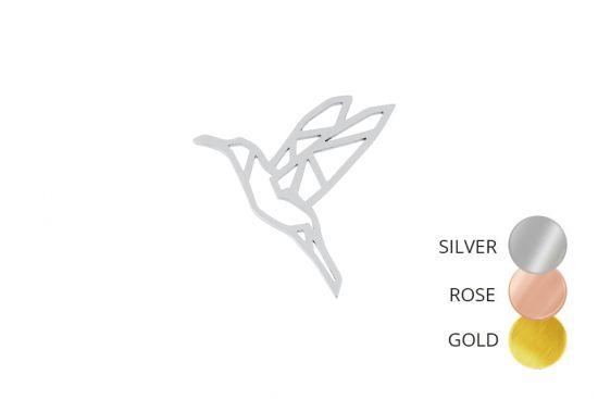 Bird Steel Brooch