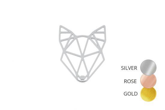Wolf Steel Brooch
