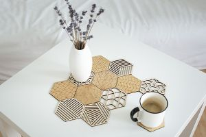 Nature Carved Coasters