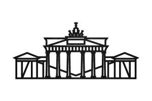 Brandenburger Tor Siluette