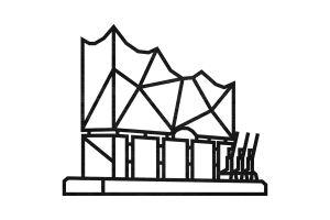 Elbphilharmonie Siluette
