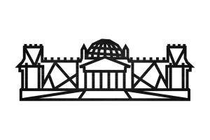 Reichstag Siluette