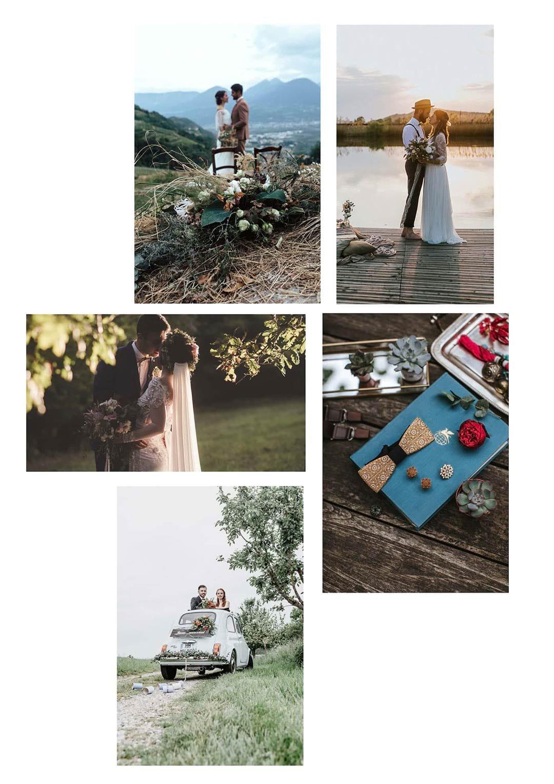 Collage als Inspiration zu deiner Vintage Hochzeit