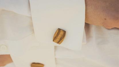 Manschettenknöpfe Holz Hemd BeWooden